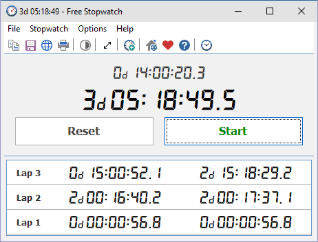 Free Stopwatch Portable Screenshot